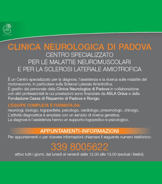 A Padova il Centro Specializzato per la SLA