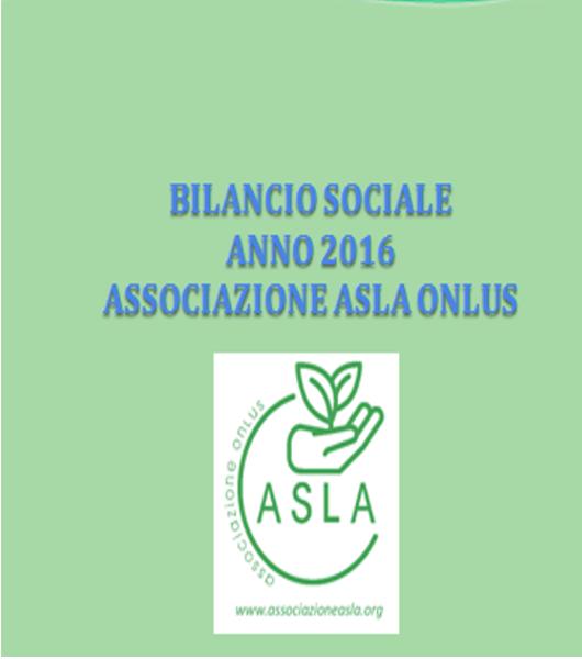 Bilancio Sociale Asla anno 2016