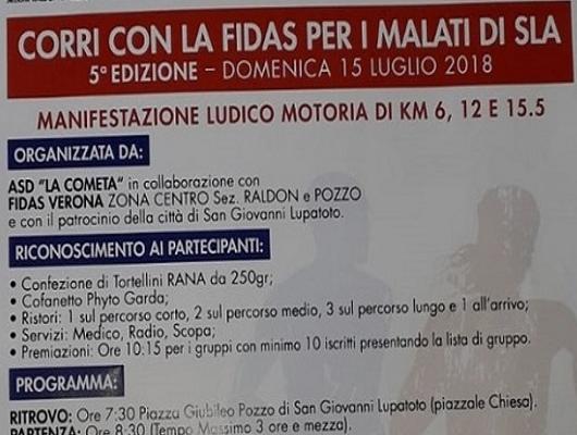 Corri con la Fidas per i malati di SLA – 15/7/2018