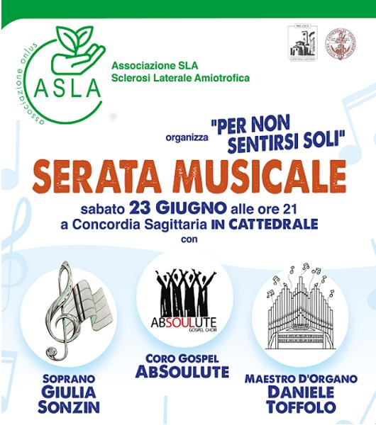 Serata Musicale a Concordia Sagittaria – 23 giugno 2018