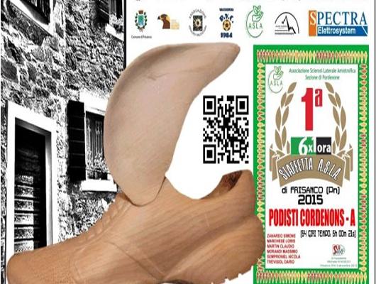 Sezione Asla di PN Frisanco, 5° staffetta 6 x 1, anno 2016