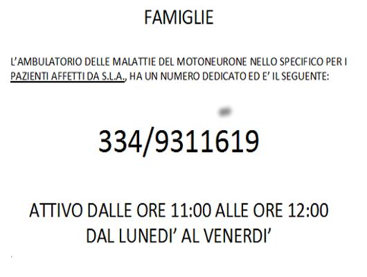 Centro SLA di Padova: case-manager e contatti dedicati