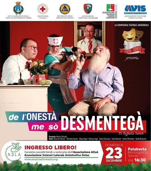 Il 23 dicembre a Montegrotto commedia teatrale per Asla