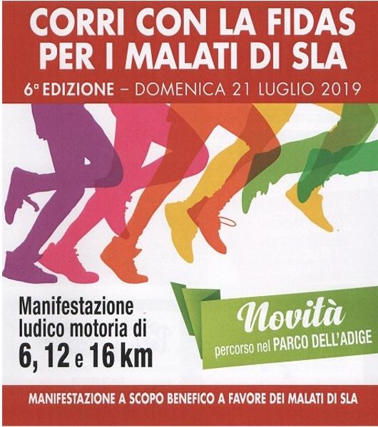 Corri con la Fidas per i malati di SLA – 21/7/2019