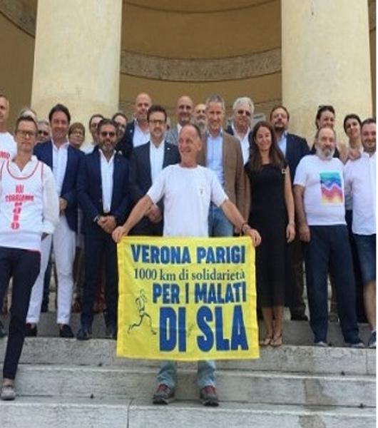 Da Verona a Parigi di corsa per aiutare i malati di Sla